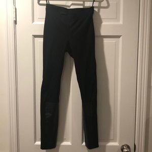 DKNY leggings with leather sides